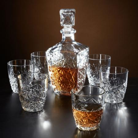 Set cadou decantor Sticla cu sase pahare Dedalo [2]