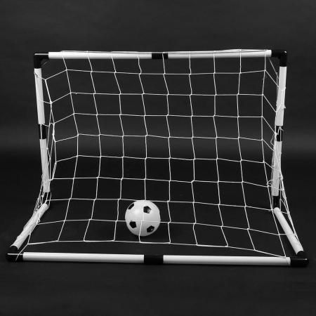 Set cadou fotbal pentru copii, poarta cu plasa, minge si pompa2