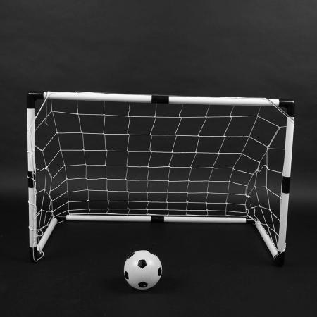 Set cadou fotbal pentru copii, poarta cu plasa, minge si pompa0