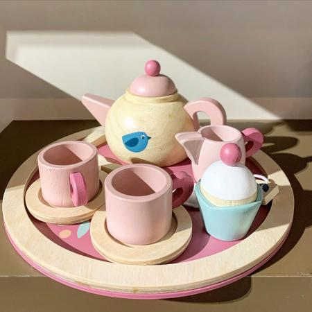 Set cadou jucarii din lemn Ceaiul de la ora 5, 8 piese0