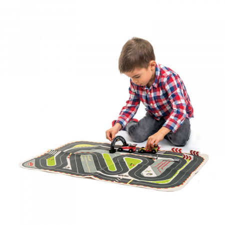 Set cadou jucarii din lemn Circuit Formula 1, 6 piese0