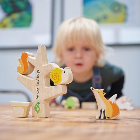 Set cadou jucarii din lemn Povestea din gradina, 16 piese0