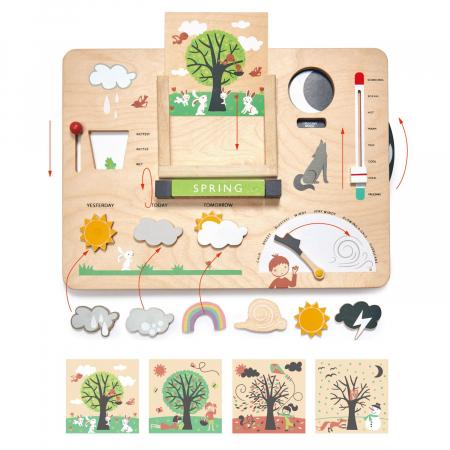 Set cadou jucarii din lemn Statie meteo educativa, 13 piese4