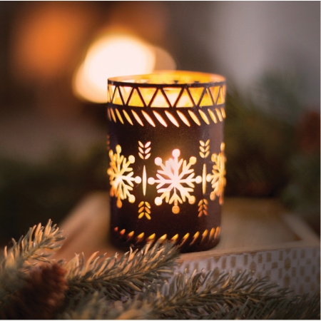 Set cadou lumanari parfumate Woodwick Snowflakes & Pomegrade0