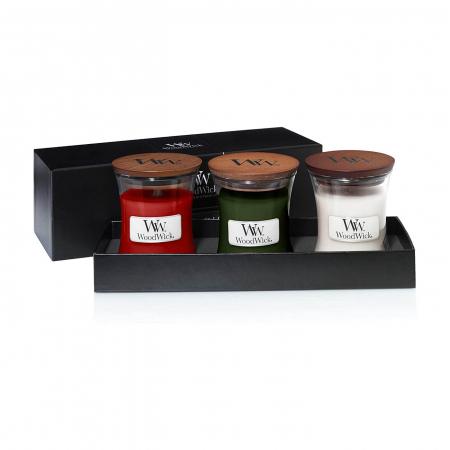 Set cadou lumanari parfumate Woodwick Woodland2