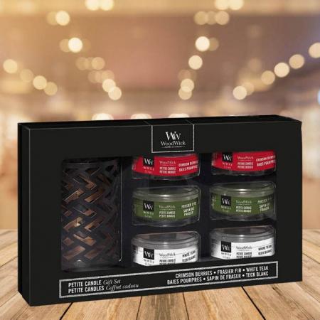 Set cadou lumanari parfumate Woodwick Woodland Deluxe0