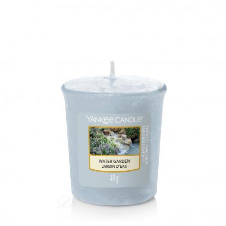Set cadou lumanari parfumate Yankee Candle 3 votive garden hideaway purse6