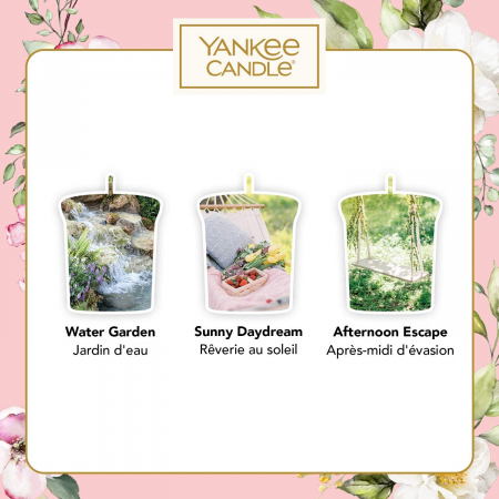 Set cadou lumanari parfumate Yankee Candle 3 votive garden hideaway purse2