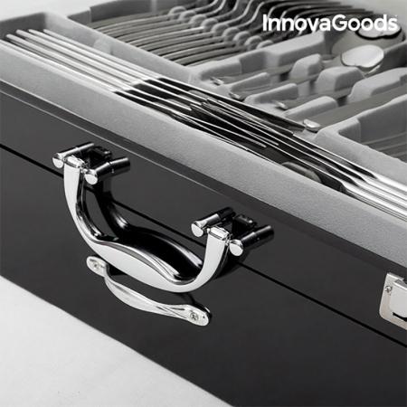 Set cadou tacamuri otel inoxidabil Caseta D'Lux Cook, 72 de piese1