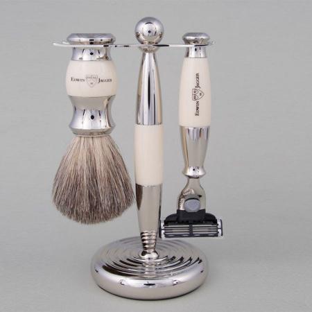 Set de barbierit 3 piese Ivory Mach3 Edwin Jagger0