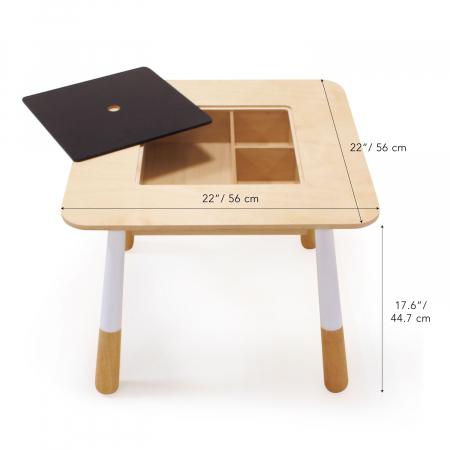 Set din lemn Masuta copii cu doua scaunele5