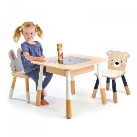 Set din lemn Masuta copii cu doua scaunele2