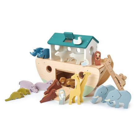 Set jucarii din lemn Arca lui Noe, Joc de sortare, 25 piese2