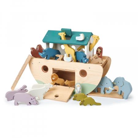 Set jucarii din lemn Arca lui Noe, Joc de sortare, 25 piese3