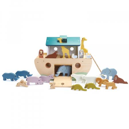Set jucarii din lemn Arca lui Noe, Joc de sortare, 25 piese6