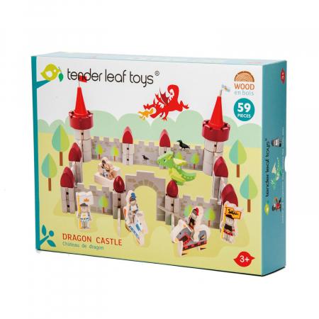 Set jucarii din lemn Castelul Dragonului, 59 piese2