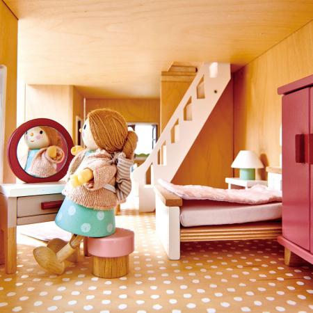 Set jucarii din lemn Mobilier dormitor, 15 piese1