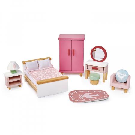 Set jucarii din lemn Mobilier dormitor, 15 piese2