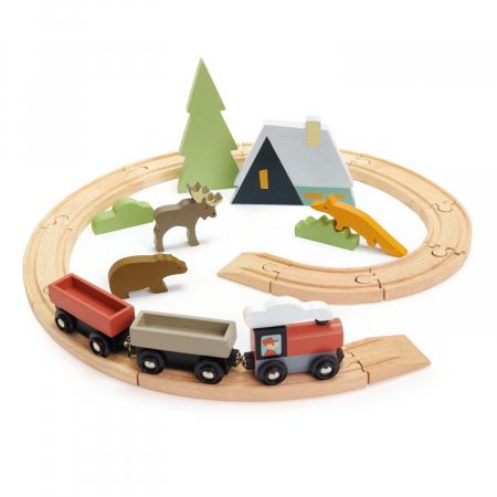 Set jucarii din lemn Trenulet montan2