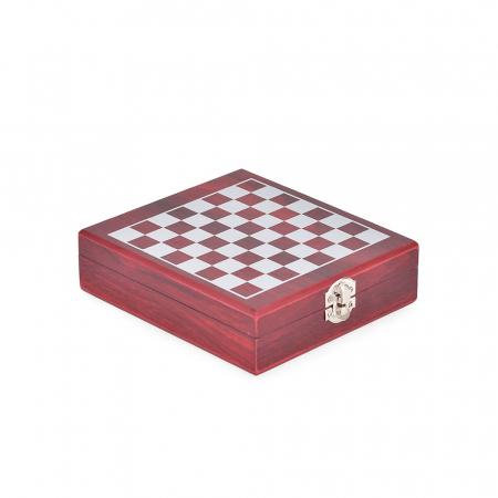 Set sah si accesorii vin Checkmate, Caseta rafinata [6]