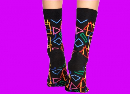 Sosete geometrice Happy Socks1