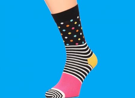 Sosete Happy Socks cu dungi si buline0