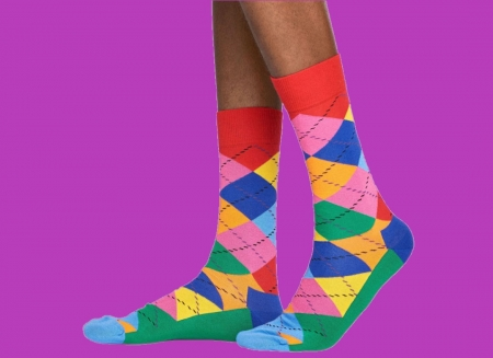 Sosete Happy Socks cu romburi0