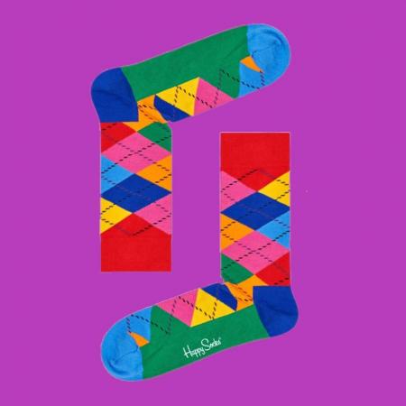 Sosete Happy Socks cu romburi0