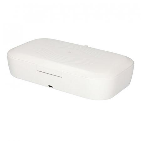 Sterilizator UV caseta alba cu incarcator wireless5