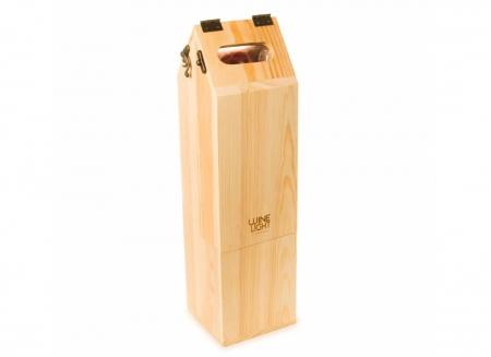 Suport din lemn veioza pentru vin3