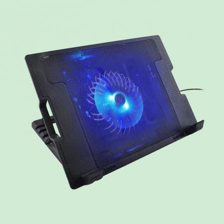 Suport laptop reglabil cu ventilator de racire LED0