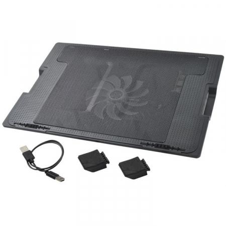 Suport laptop reglabil cu ventilator de racire LED5