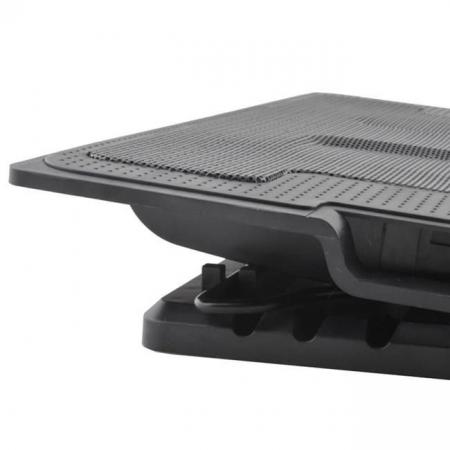 Suport laptop reglabil cu ventilator de racire LED3