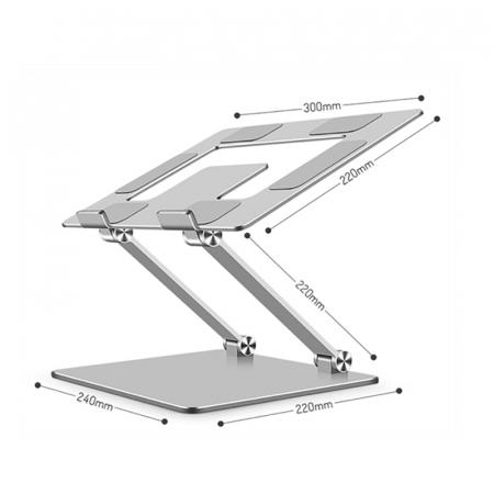 Suport masuta laptop pliabil si reglabil, din aluminiu [4]