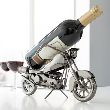 Suport sticla de vin Motocicleta metalica0