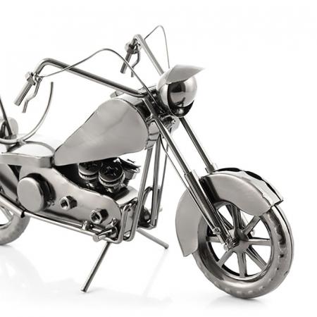Suport sticla de vin Motocicleta metalica2