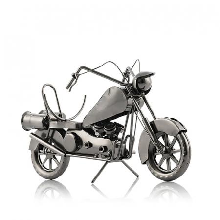 Suport sticla de vin Motocicleta metalica1