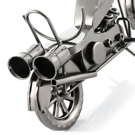Suport sticla de vin Motocicleta metalica4