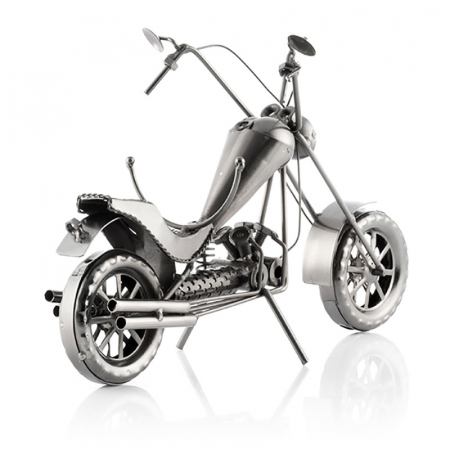 Suport sticla de vin Motocicleta metalica CHOPPER3