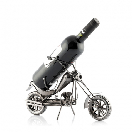 Suport sticla de vin Motocicleta metalica CHOPPER1