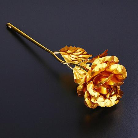 Trandafir placat cu aur 24K - model artificial [3]