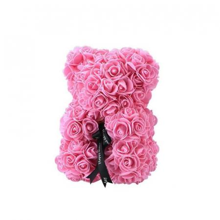 Ursulet din spuma roz, 25 cm, cutie cadou1
