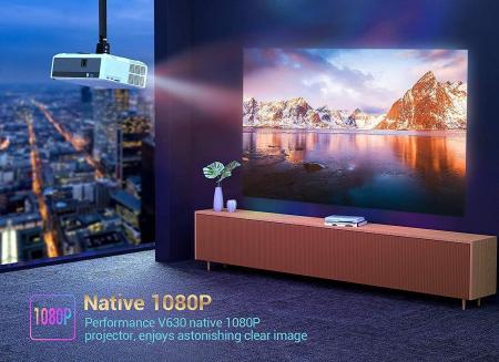 Videoproiector Vankyo Performance 6000 lumeni, cu geanta de transport, HDMI, LED, 1080p Native2