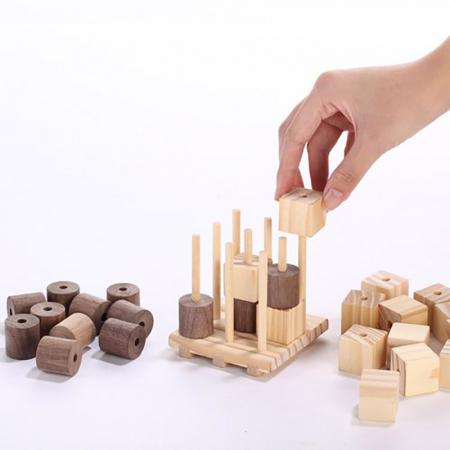 X si 0, Joc 3D din lemn2