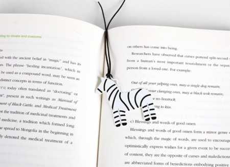 Semn de carte zebra1