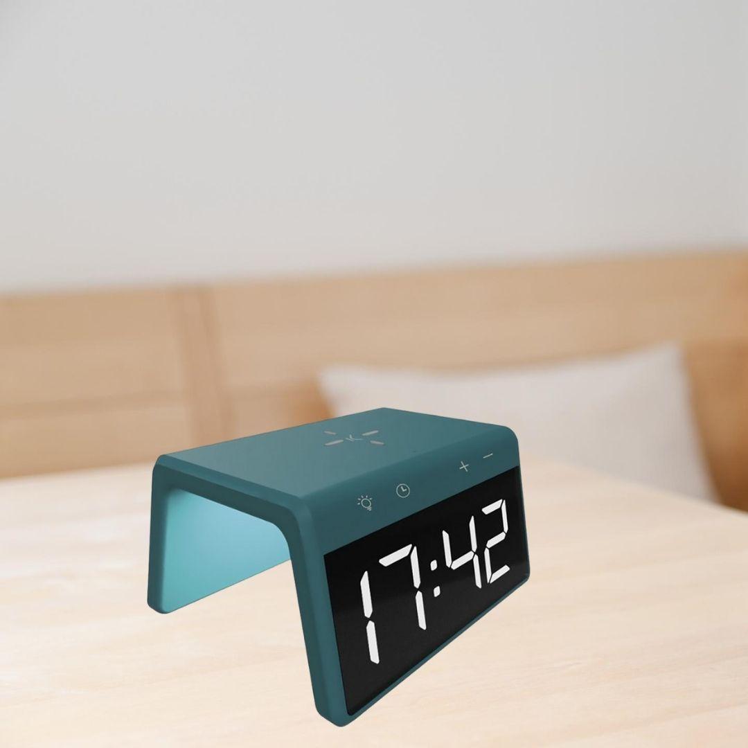 Ceas desteptator cu incarcator wireless smartphone AlarmOn