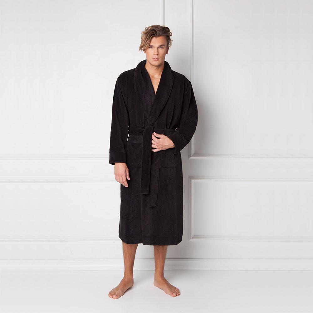Halat de baie barbati, Fernand negru