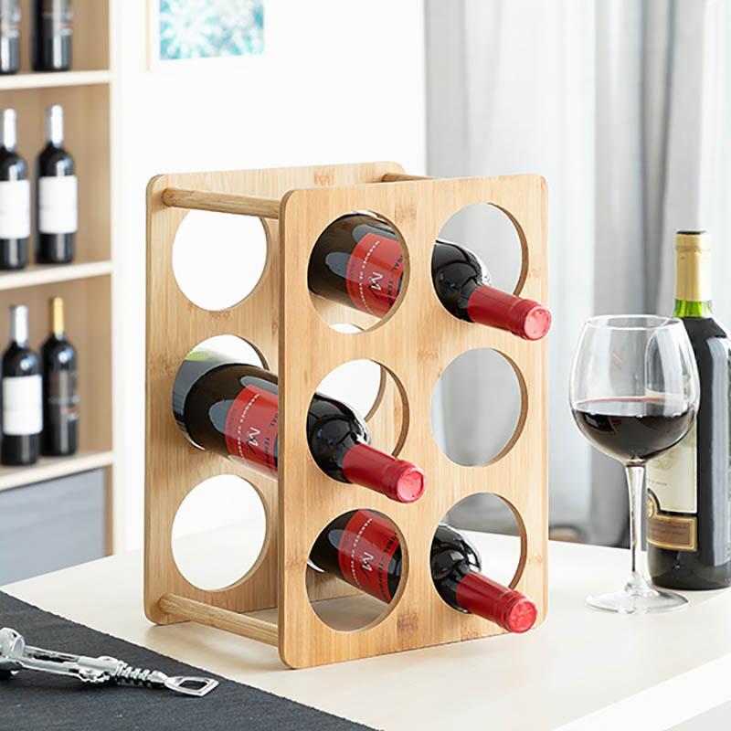 Bamboo Rack pentru 6 sticle de vin