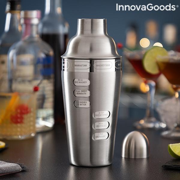 Shaker cocktail cu 8 tipuri de cocktailuri