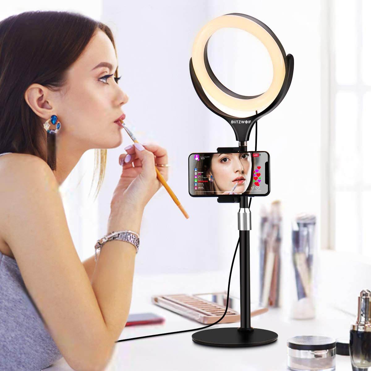 Lampa LED Make-up Profesionala BlitzWof BW-SL4, 64 leduri cu lumina rece  calda